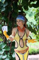 Rikku Lady Luck with Cards by Vanne