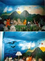 Child's bedroom mural details by amyhooton