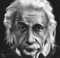Einstein portrait 2 by Mordred-87