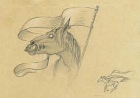 Thestral sketch by Bueshang