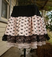 Skirt bows lace ruffles by SewObession