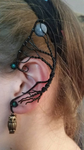 Wire Wrapped Tree and Moon Ear Cuff by irishgal112