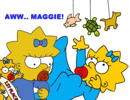 Maggie Simpson layout by BabyGetLoose