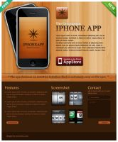 Wooden iPhone App Web by iconnice