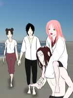 At The Beach - Commish by Just4Sasuke