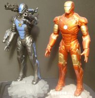 Stormhawk and Iron Man by Roguewing