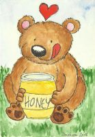 Bear loves honey by camaseiz
