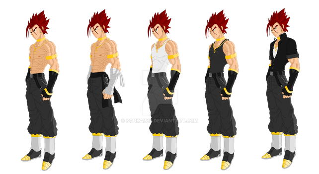 Kai age 19- Outfits (Not complete) by Sonkai912