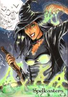 Spellcasters Sketch Card - Eric McConnell 1 by Pernastudios