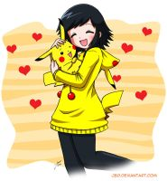 Fan Loves Pikachu by J8d