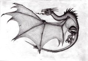 Wyvern Pseudodragon by KingOvRats