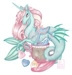 My Little Water Horse on White by Miss-Cherry-Martini