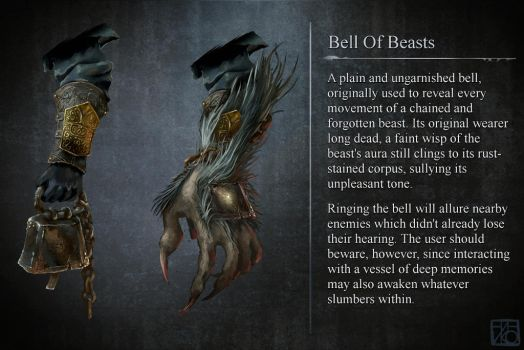 Bloodborne - Bell of Beasts [Fanart - weapon idea] by Ininko