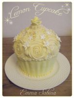 Giant Lemon Cupcake by EmmaSabina