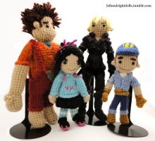 Wreck-It Ralph Group by leftandrightdolls