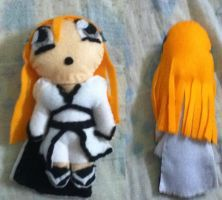 Orihime plushie by Claybirdies