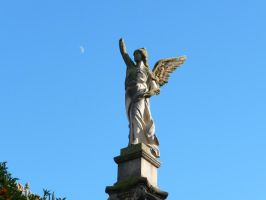 Angel on a high plinth II by Lemondjinn
