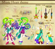 Adoptable: Music Heart Theme (CLOSED) by DestinySword