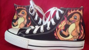 Charmander Custom Shoe Commission by Brokenfeather-san