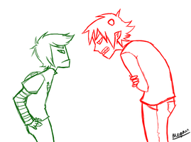 WIP Karkat and Zim by SuPeR--nErD
