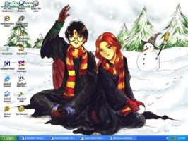 Harry and Ginny WinterTime by LindyArt