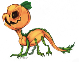 Pumpkin Monster Colored by MagicBunnyArt