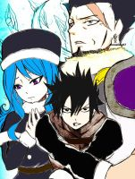 Gray and Juvia vs. Silver by AbnusiLaw07