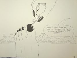 Giantess Gaga's Smelly Feet 11 by luvmesomebelly