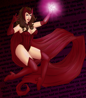 Scarlet Witch by GinnyMilling