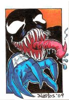 Color Venom SketchCard by ElfSong-Mat