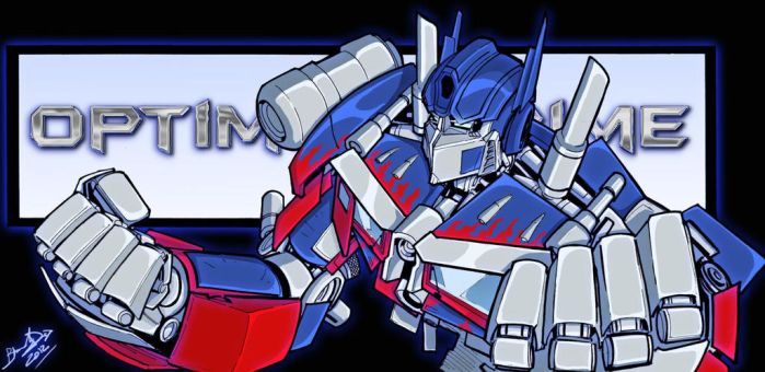 Movie Optimus colors with banner by BDixonarts