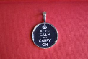 Keep Calm Pendant by MonsterBrandCrafts