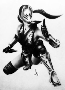 Drawing kunimitsu tekken by jhonatan23