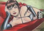 Chasity 4 - CHAOS! SDCC LE Sketch Art Card by DenaeFrazierStudios