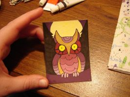 Owl ACEO by Gryphon-HB