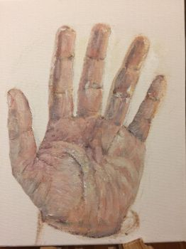Hand Oil Study by RyanLouder