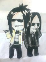 Wednesday13 and Joey J. by Shadow-wings13