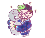 an old, small doodle but idk here's a hug! by Envarchy