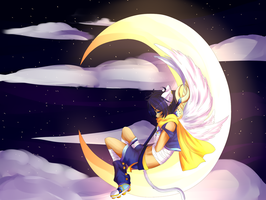 The Sleeping Moon by TheLambu