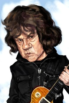 Gary Moore caricature by jupa1128