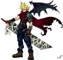 . KH:Cloud Strife Sketch . by leonharts-heart696