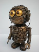 cute little robot buddy by richardsymonsart