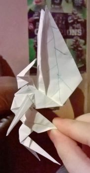another origami fairy i call him snow by Alisterlebeau