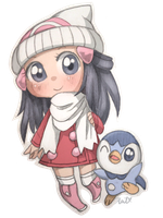 Dawn and Piplup by Syertse