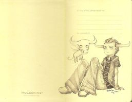 Moleskine TavDoodle by BlueRoseArkelle