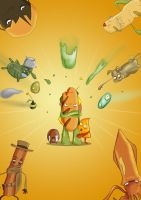 Action Packed Sandwich intro page by JonRichardson