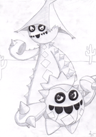 Cacnea and Cacturne by MetaLatias5