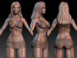 Street Girl WIP by GastonBR
