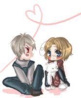 Chibi Prussia and Canada by kurohime27