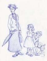 Poppins and Her Young Charges by kuabci